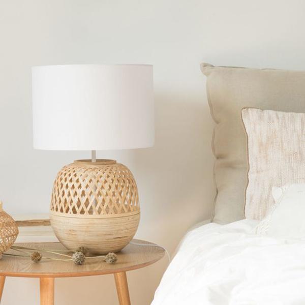 lámparas de fibras naturales