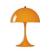 Lámpara de mesa de noche de estilo vintage