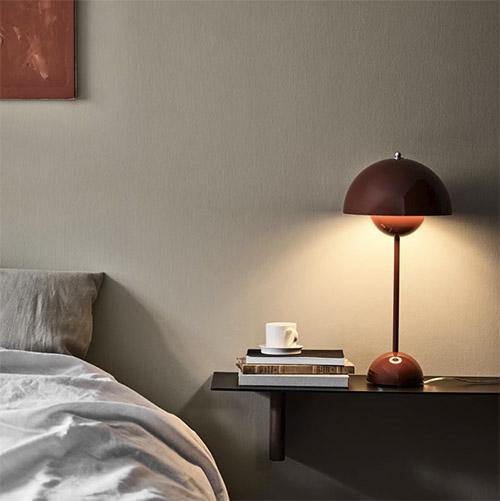 Lámpara de mesita de noche de estilo vintage retro