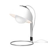 lámpara mesa de color blanco
