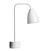lámpara de mesa minimalista de color blanco