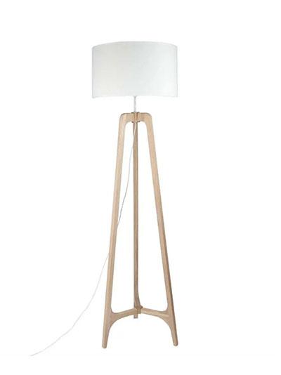 lampara de pie tripode madera nordica