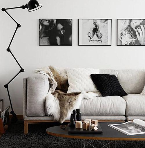 láminas de fotografías para decorar la pared del salón