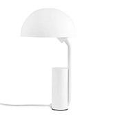 lámpara de sobremesa de color blanco