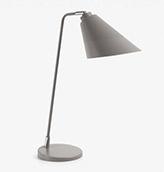 lámpara de mesa de color gris