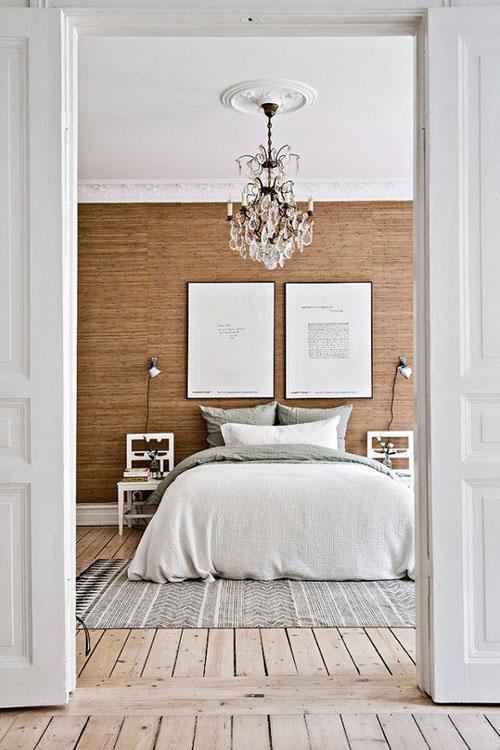lámparas de araña para la decoración de dormitorios