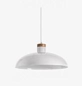 lámpara de techo de acero color blanco