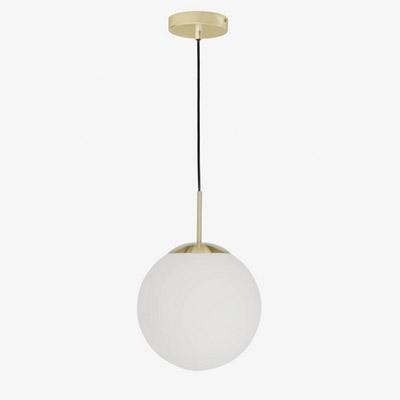 lámpara colgante de metal dorado