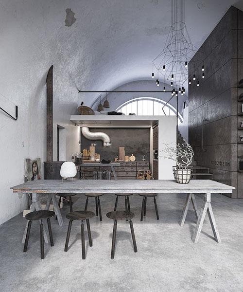 Decoración con lámparas de diseño en lofts