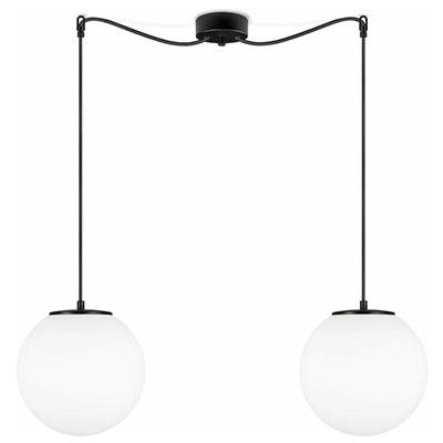 lámpara 2 globos colgantes