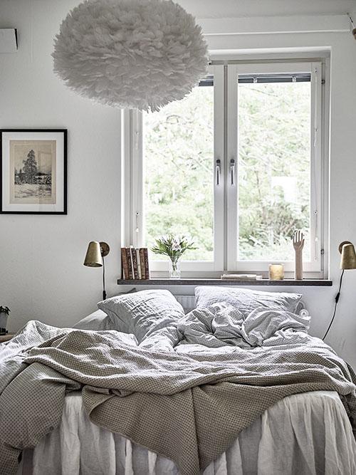 diseño y decoración de habitaciones con pantallas de plumas