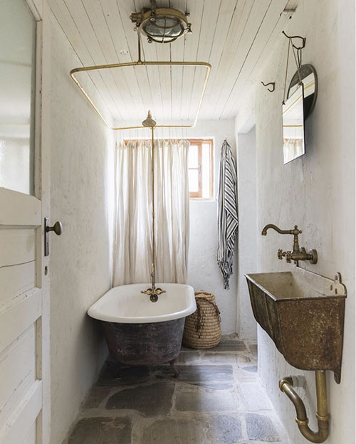 Cómo decorar un baño de una casa de campo