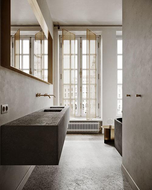 cuarto de baño de estilo minimalista y diseño moderno