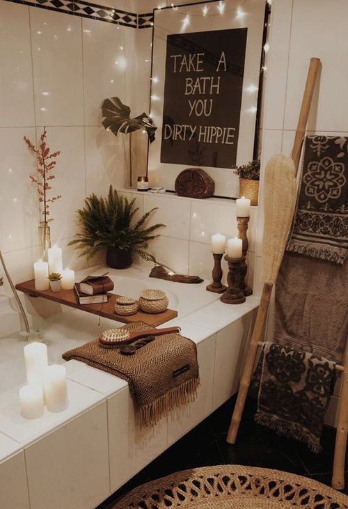 Un baño a la luz de las velas