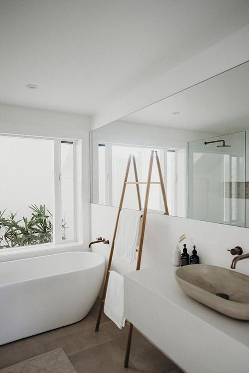 lavabo de una casa de playa