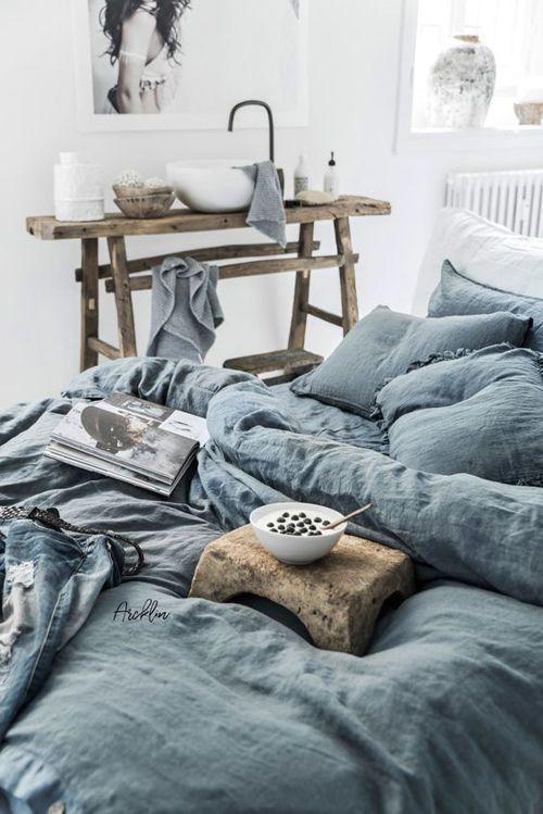 El lino para decorar habitaciones