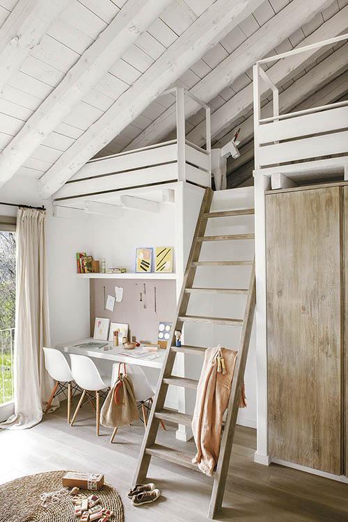 dormitorio juvenil de estilo rustico