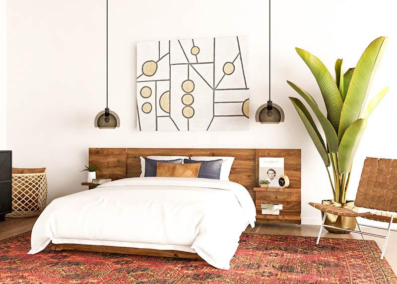 lámparas de techo de estilo vintage para decorar el dormitorio