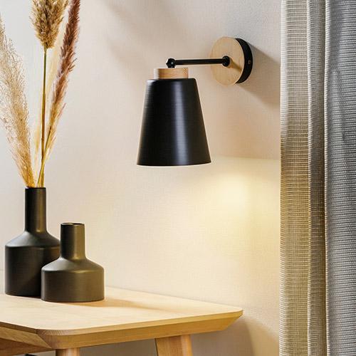 iluminación general con aplique de pared