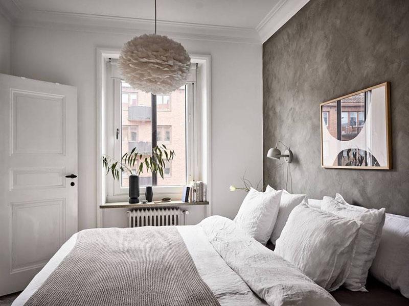 iluminación de la habitación con lámpara de plumas