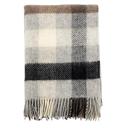 manta a cuadros de lana virgen 100% de colores