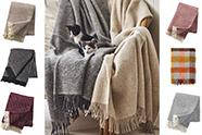 mantas de lana para el sofá o la cama