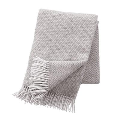 manta de lana merino 100% de color gris