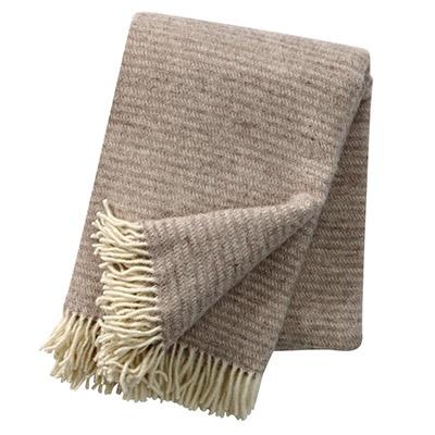 manta de lana pura de color marrón