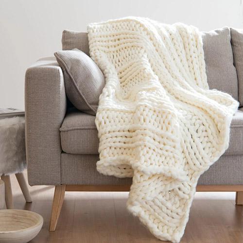 manta gruesa para la cama o el sofá de casa
