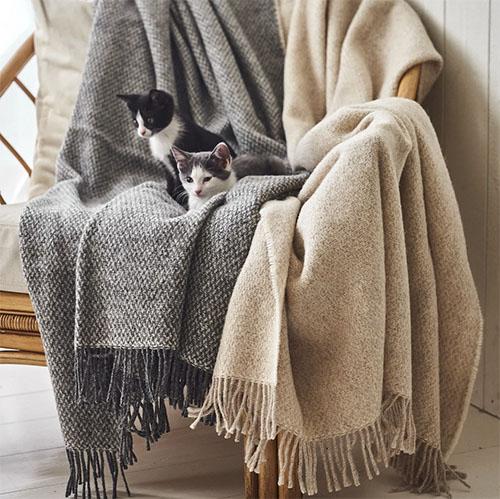 plaids de lana merino para el sofá o la cama del hogar