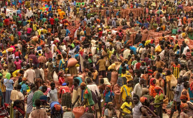 Vida social en los mercados de Etiopía