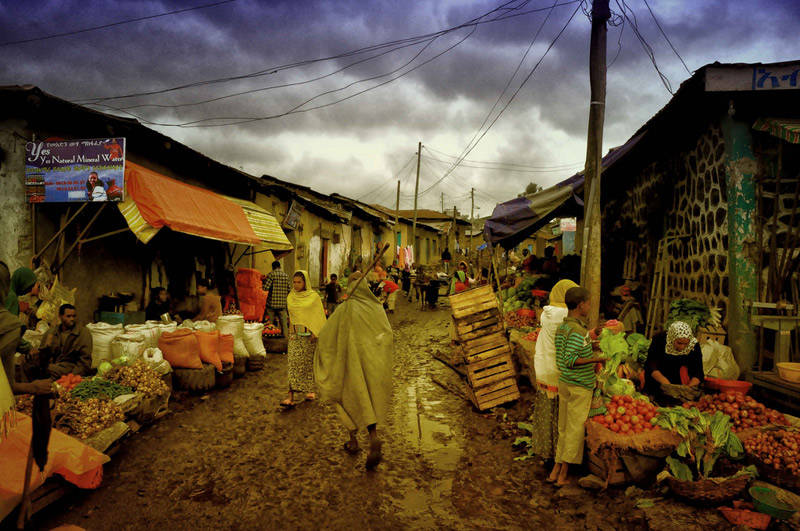 Mercados en las calles de Etiopía
