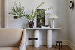 mesa auxiliar de mármol