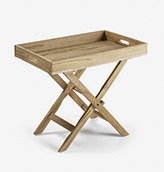 mesa auxiliar plegable de madera maciza