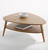 mesa baja ovalada de madera de estilo vintage