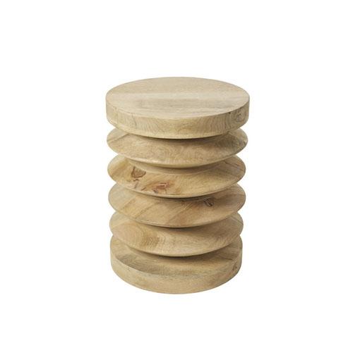 mesa auxiliar de madera maciza