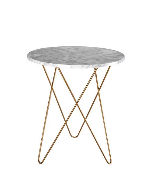 mesa de centro de mármol gris