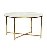 mesa baja redonda marmol y patas de metal