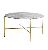 mesa baja redonda marmol
