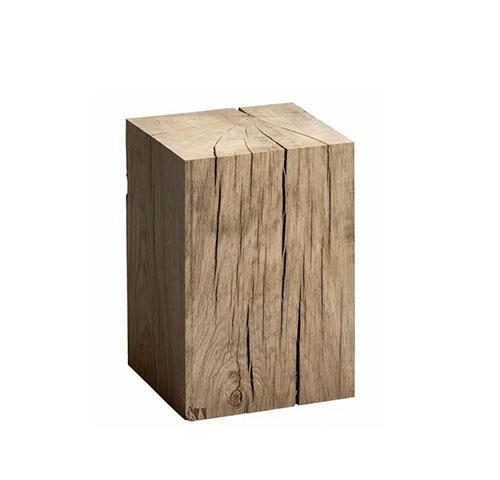 mesa auxilar tronco madera