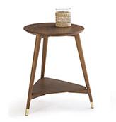 mesita auxilar de madera de estilo vintage