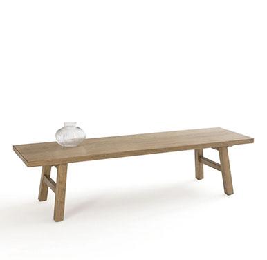 mesa centro madera rustica