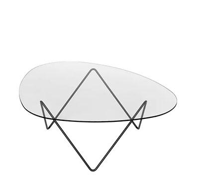 mesa auxiliar de vidrio