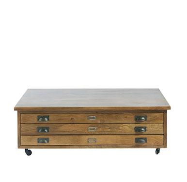 mesa baja madera con ruedas