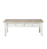 mesa de centro baja de madera maciza