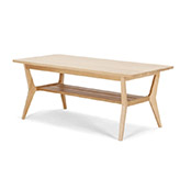 mesa de centro de madera de nogal de estilo nórdico