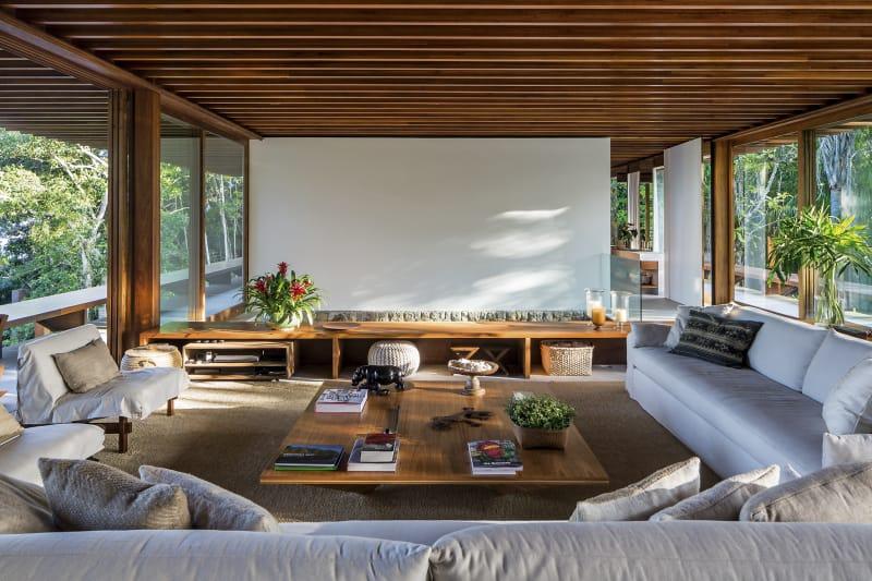 Mesa de centro grande de madera