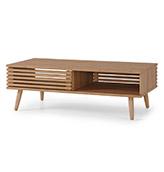 mesa de centro de madera de roble
