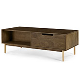mesa de centro de madera maciza vintage