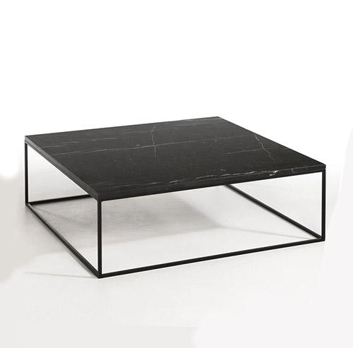 mesa de centro marmol negro